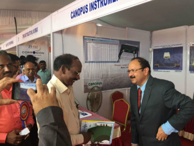 Dr. K. Sivan, Chairman, Indian Space Research Organization (ISRO) visiting our stall.