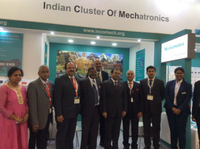 Members of Indian Cluster of Mechatronics with Mr. Sugandh Rajaram, Counsel General of India at Munich, Germany.